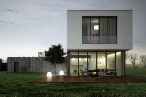 Dwa lustrzane domy jednorodzinne w Katowicach | pow. użytkowa 235 m2